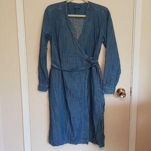 Pendleton chambray wrap dress